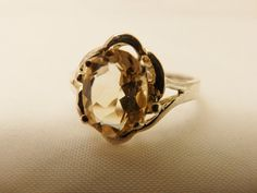 Size 7, Sterling Silver  Oval Cut 1 Ct. Citrine  Ring Size, Jewelry Gift