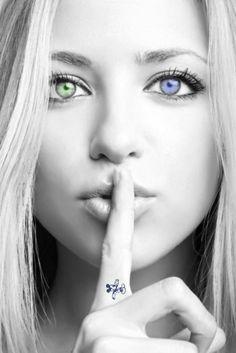 green eye blue eye