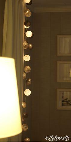 Cotton balls, happylights olohuoneessa Balls, Wall Lights, Lighting, Cotton, Home Decor, Appliques, Decoration Home, Room Decor, Lights