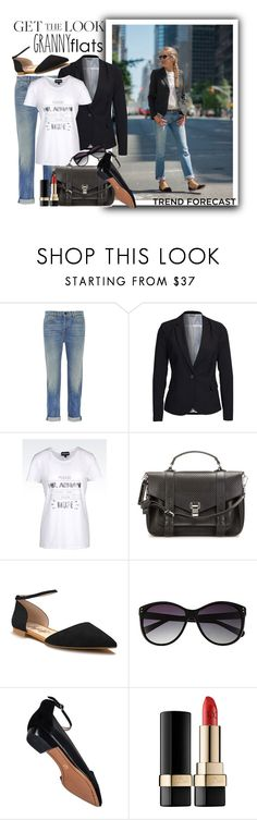 """""""Cute Trend: Granny Flats"""" by danielle-broekhuizen ❤ liked on Polyvore featuring Alexander Wang, Vero Moda, Emporio Armani, Proenza Schouler, Shoes of Prey, Vince Camuto, 10 Crosby Derek Lam and Dolce&Gabbana"""