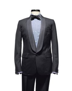 Band of Outsiders tux, shirt, and bow tie