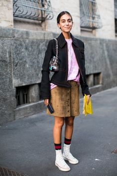 7 Outfits to Wear With High-Tops via @WhoWhatWearUK