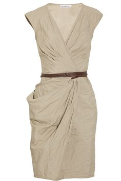 Kaufmanfranco Belted Crinkled Cotton Dress