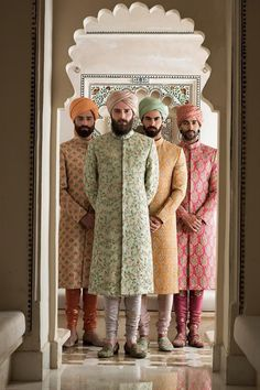 Sabyasachi Udaipur Collection has crossed all boundaries and broke all stereotypes with redefining the bridal and the groom wear for this season. Wedding Dresses Men Indian, Wedding Outfits For Groom, Wedding Dress Men, Bridal Outfits, Wedding Suits, 2017 Wedding, Indian Weddings, Trendy Wedding, Wedding Ceremony