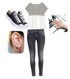 """""""teenage girl street style"""" by layda-m-saavedra-m ❤ liked on Polyvore featuring Zara, Converse and H&M"""