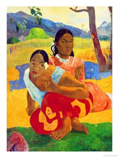 Nafea Faaipoipo (When are You Getting Married?), 1892 Giclée-Druck von Paul Gauguin bei AllPosters.de