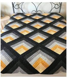 Log Cabin Quilts, Édredons Cabin Log, Log Cabin Quilt Pattern, Barn Quilts, Log Cabin Patchwork, Crochet Quilt Pattern, Simple Quilt Pattern, Crochet Patterns, Scrap Quilt