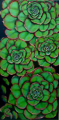 "For Sale: Successful Succulents by Sravanthi Setty | $500 | 12""w x 24""h 