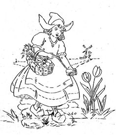 Walker dutch girl tulips and eggs by Morning Glory Designs, via Flickr