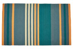 Shiloh Flat-Weave Rug, Green: One King's Lane