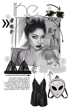 """Her picks"" by kalifornia-klass-xo ❤ liked on Polyvore featuring moda, Monki, Topshop, Vagabond, Ray-Ban y Boohoo"