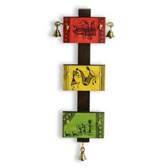 'Panels Of Paintings' Warli Hand-Painted Key Holder In Pine & Teak Woo – ExclusiveLane Madhubani Art, Madhubani Painting, Worli Painting, Budha Painting, Painting Frames, Indian Art Paintings, Abstract Paintings, Indian Folk Art, Hanging Wall Art