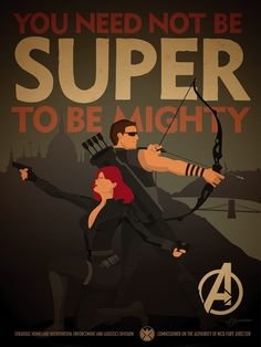 Black widow and hawkeye!