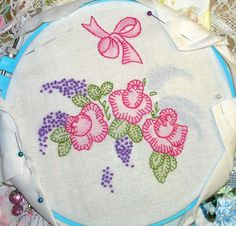 Crazy Quilting and Embroidery Blog by Pamela Kellogg of Kitty and Me Designs: Embroidering On The Deck