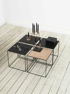couchtische metall quadratisch dänisches design
