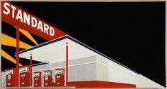 Ed Ruscha, Standard Station, Amarillo, TX, 1963