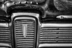 Photograph by Stuart Litoff. #Front #grill of a #vintage #Edsel #automobile.
