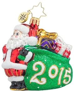 Christopher Radko 'Jolly Year - 2015' Santa Ornament