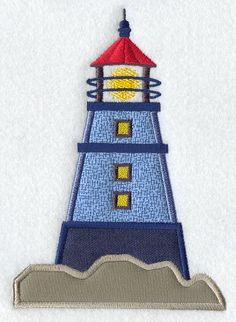 Cover large areas with fabric with this applique lighthouse design!emblibrary.com
