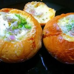 Hollowbun Egg ( Filled With Loads Of Cheese And Veggies Recipe to Cook at Home | BetterButter.in