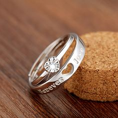 【Jewelry in My Box】Forever Love Promise Rings [100495] - $54.99 : jewelsin.com