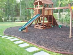 Playground with Rubber Mulch.