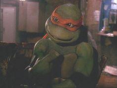 Michelangelo from Teenage Mutant Ninja Turtles Ninja Turtles Movie, Ninja Turtles Art, Teenage Mutant Ninja Turtles, Tmnt Mikey, Morning Cartoon, Fun Comics, Michelangelo, Good Movies, Childhood