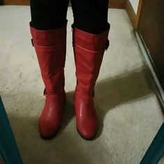 Excellent condition EMERSON RED BOOTS. EXCELLENT CONDITION AND IN GREAT SHAPE AS YOU CAN SEE IN THE ABOVE PICTURES ONLY WORN ONCE!!!  *****PLEASE FEEL FREE TO MAKE AN REASONABLE OFFER ***** Pierre Dumas Shoes