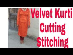 Velvet Kurti Cutting and Stitching with Important Instruction Kurti, Stitching, Trousers, Velvet, Sewing, Youtube, Outfits, Costura, Trouser Pants