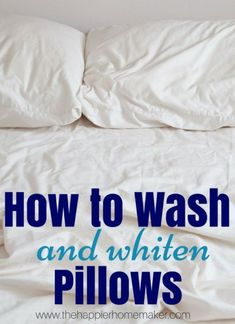 Get a clean pillow case! Spring Cleaning Tips and Hacks #springcleaning #cleaninghacks #cleaningtips #hacks #tips #cleaning #homemadecleaners