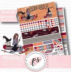 Muggle Magic (Harry Potter Theme) February 2018 Monthly View Kit Print – Plannerologystudio