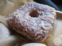 image of coconut cream donut at Doughnut Plant in NYC, New York
