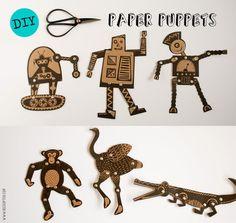 DIY puppets from http://heedopter.blogspot.gr