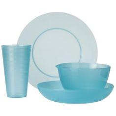 Turquoise 16-Piece Plastic Dinnerware Set | Everything Turquoise