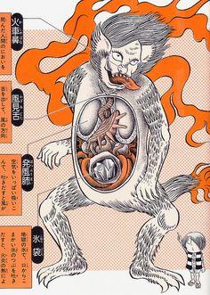 Shigeru Mizuki's Yōkai Daizukai - Kasha (messenger of hell) by Aeron Alfrey, via Flickr