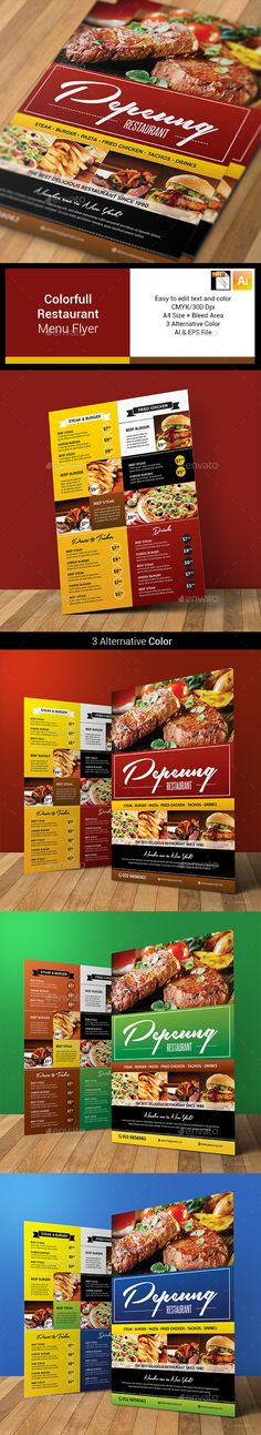 Food Menu Flyer  Food Menu Print Templates And Menu