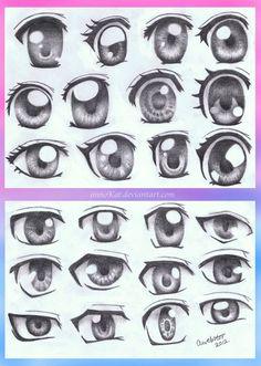 Ideas for shading Eyes