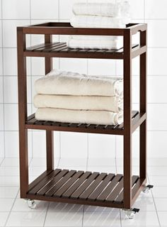 Need extra room in the bathroom? Make it mobile with the MOLGER cart and move it to wherever you need it.