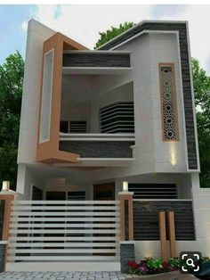 Top Amazing Modern House Designs - Engineering Discoveries House Front Wall Design, Bungalow House Design, Small House Design, Cool House Designs, Modern House Design, Modern House Plans, Small House Plans, House Styles, Front Elevation