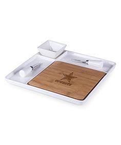 Dallas Cowboys Peninsula Cutting Board & Serving Tray Set