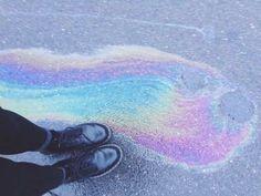 rainbow, black boots, grunge, photography