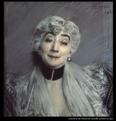 Portrait of the Countess de Martel de Janville, known as Gyp (1850-1932) Artist: Giovanni Boldini
