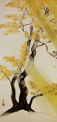 横山大観「春風秋雨(秋雨)1」【襖紙】 | 絵画プリントグッズの通販 ORIE original