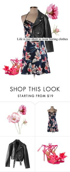 """""""Or Long. Whatevs."""" by snarlybeasty ❤ liked on Polyvore featuring GUESS, Jean-Paul Gaultier and Aquazzura"""