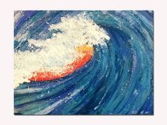 Ocean Wave Art Print  Beach Decor  Surfer Art  Barrel by SamIamArt, $15.00