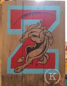 Tall Zachary football * 21.5 x 16.5 in * 40$ * Kyla D'Arensbourg