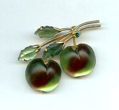 Austrian Green Apples Brooch