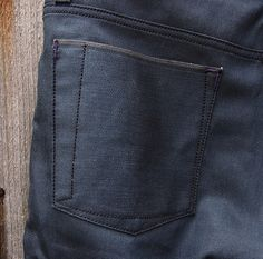 Interesting back pocket  ...