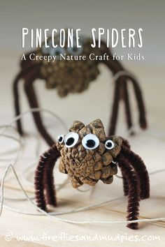 Pine Cone Spiders: A Halloween Nature Craft for Kids