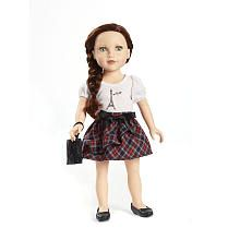 """Journey Girls 18 inch Doll Outfit - White Eiffel Tower Shirt, Plaid Skirt and Black Purse - Toys R Us - Toys """"R"""" Us"""
